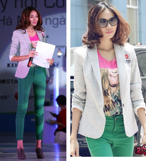 'Soi' BST quần jean màu của Thanh Hằng - 1