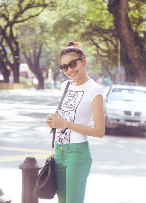 'Soi' BST quần jean màu của Thanh Hằng - 5