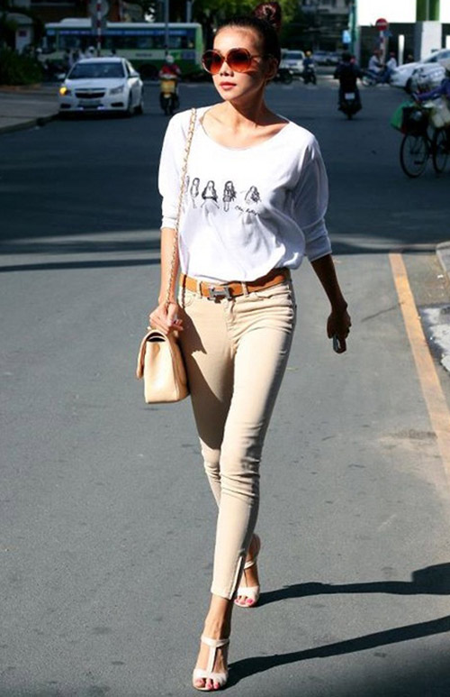 'Soi' BST quần jean màu của Thanh Hằng - 21