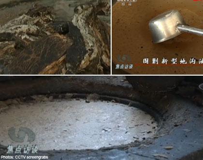 Dầu ăn bẩn được chế biến từ thịt động vật chết và nội tạng đã thối rữa