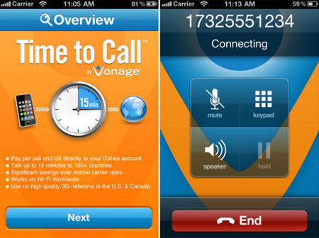 Vonage Time to Call - inLook.vn