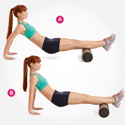 7 bài tập với con lăn giúp bạn khỏe mạnh toàn thân 1