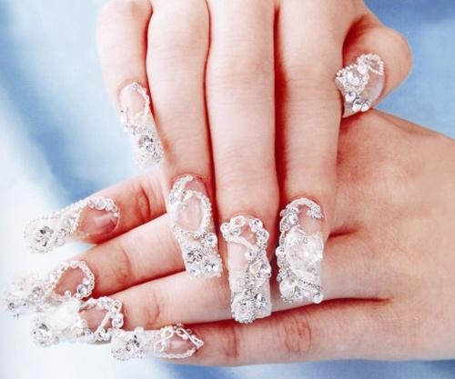 Muôn kiểu nail xinh cho cô dâu ngày cưới - 10