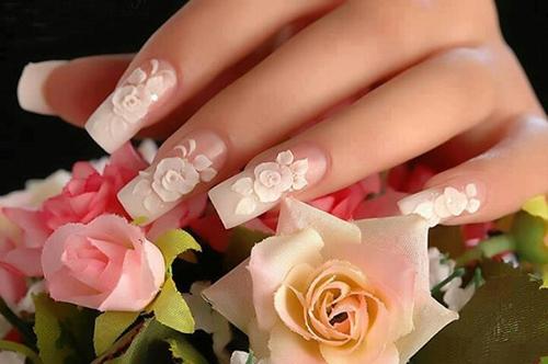 Muôn kiểu nail xinh cho cô dâu ngày cưới - 6