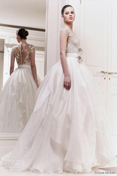 Váy cưới tôn lưng thon mềm mại lên ngôi mùa thu - 9