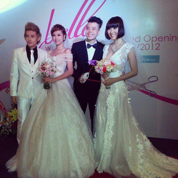 Bức ảnh đăng trên FB với hình ảnh Ông Cao Thắng và Đông Nhi trong trang phục lễ cưới