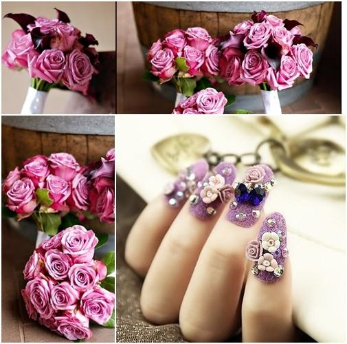 Muôn kiểu nail xinh cho cô dâu ngày cưới - 8