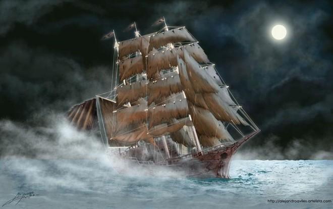 Theo truyền thuyết, El Caleuche chở theo linh hồn của những người chết đuối ngoài biển khơi. Ảnh: