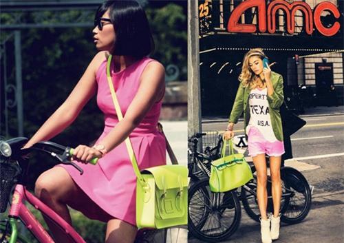 túi xách màu neon, thời trang, xu hướng túi xách 2014