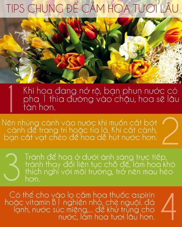 Các mẹo giữ hoa tươi lâu cho ngày Tết 1