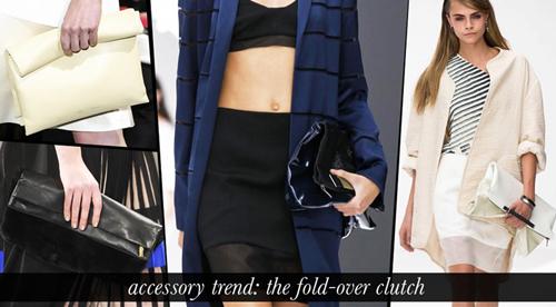Dẫn đầu xu hướng phụ kiện 2013 với Fold-over clutch 2
