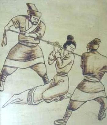 Những hình phạt ghê rợn với phụ nữ ngoại tình thời cổ 4