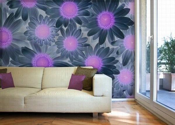 Gợi ý trang trí tường nhà với họa tiết hoa 2