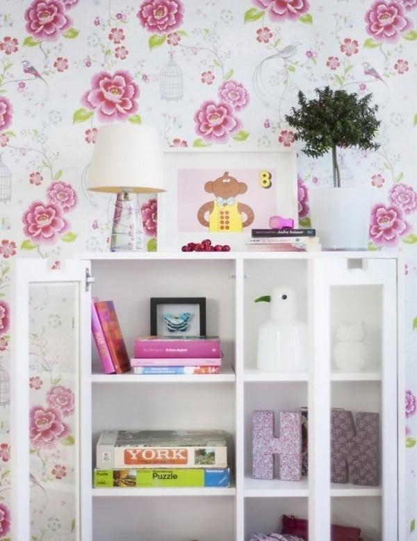 Gợi ý trang trí tường nhà với họa tiết hoa 3