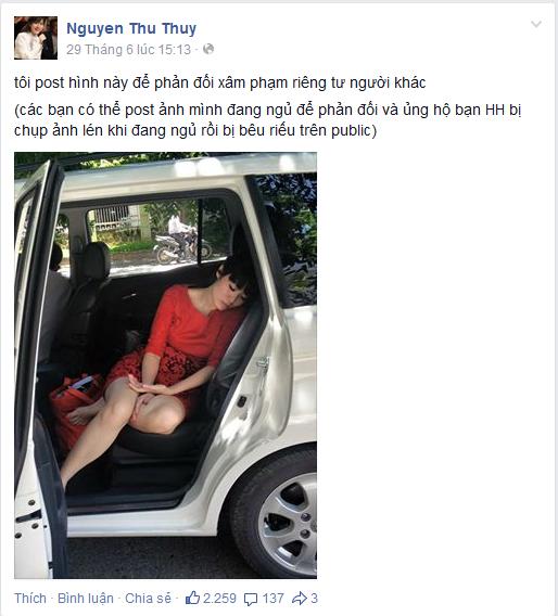 Sao Việt tung ảnh dáng ngủ xấu để bênh vực Hoa hậu Kỳ Duyên