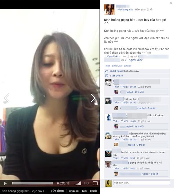 """Hot girl Hải Phòng sexy gây sốt với clip """"khoe"""" giọng hát 1"""