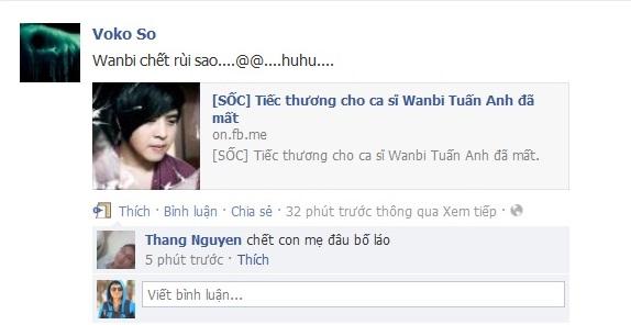 Tin Wanbi Tuấn Anh chết gây sốc cho cư dân mạng
