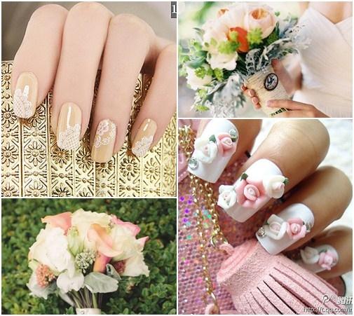 Muôn kiểu nail xinh cho cô dâu ngày cưới - 5