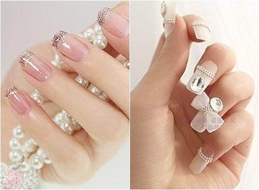 Muôn kiểu nail xinh cho cô dâu ngày cưới - 11