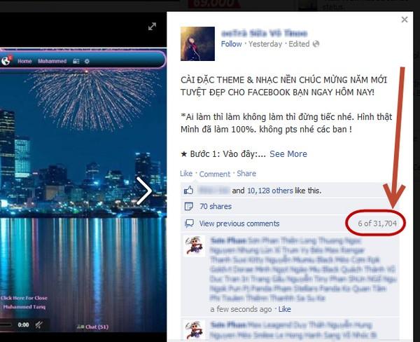 Trò lừa đổi giao diện gây bức xúc trên Facebook 1