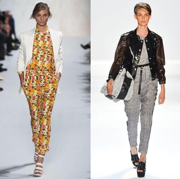 Ngoài ra, jumpsuit được kết hợp với áo vest, áo khoác