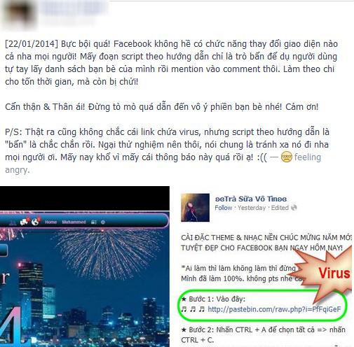 Trò lừa đổi giao diện gây bức xúc trên Facebook 2