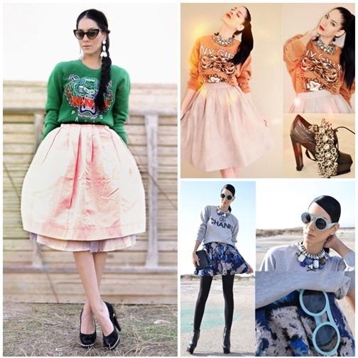 Váy xòe nào đang 'tung hoành' street style? - 18