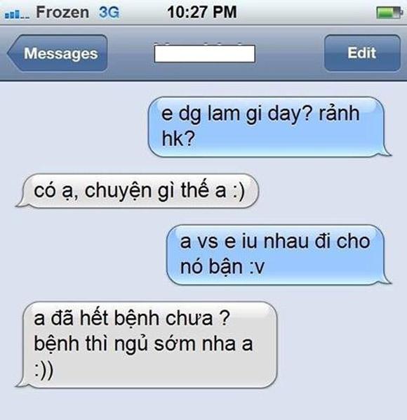 Bật cười với những tin nhắn tỏ tình 'bất hủ' | ảnh vui,ảnh chế,hài hước,ảnh tếu,ảnh hài hước,tin nhắn hài hước