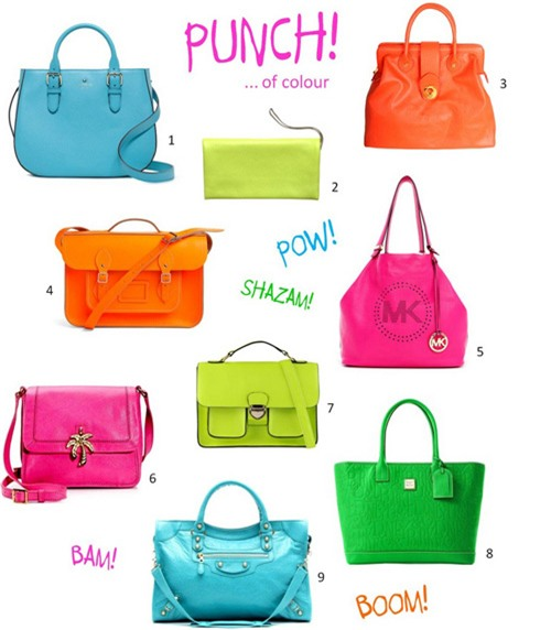 Làm bạn với túi xách thời trang màu neon không khó, miễn là bạn biết ứng dụng hài hòa các item trong tủ đồ của mình.