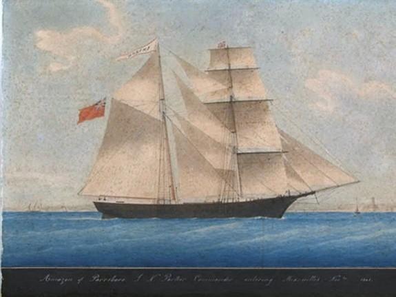 tàu thương gia hai cột buồm của Mỹ Mary Celeste