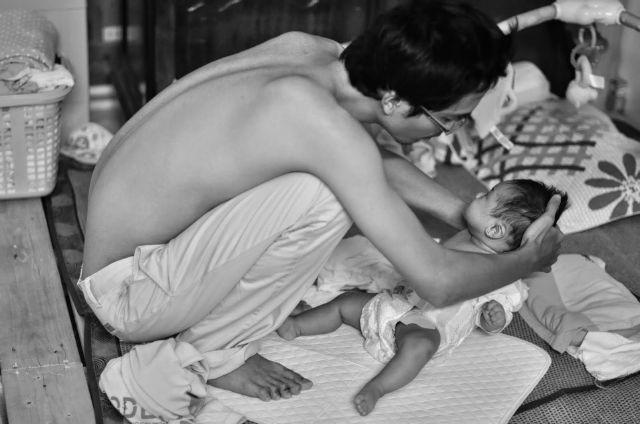 chăm con, bố đơn thân, Trình Tuấn