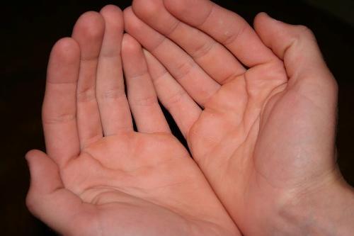 Người có lòng bàn tay hồng hào dễ đạt thành công trong cuộc sống.