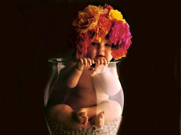 Thêm những bức ảnh đẹp lung linh của bé và hoa 18