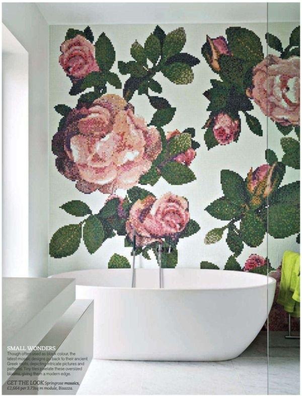 Gợi ý trang trí tường nhà với họa tiết hoa 5