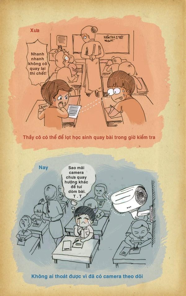 Chùm tranh vui 20/11: Những khác biệt thú vị giữa thầy cô xưa và nay 4