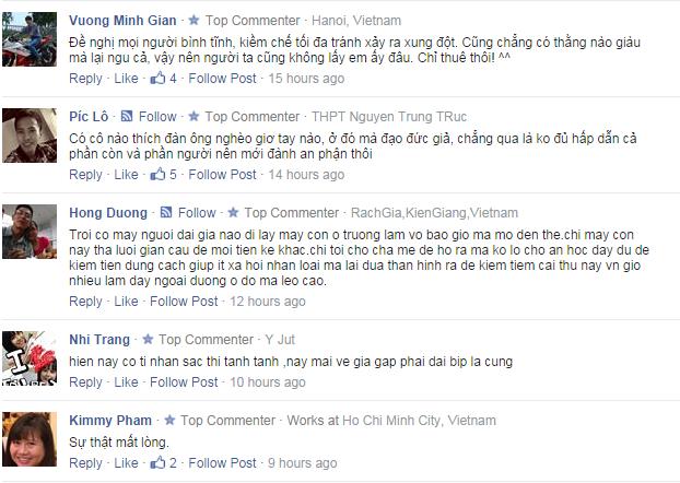 Cư dân mạng bình luận về phát ngôn gây sốc của Ngọc Trinh