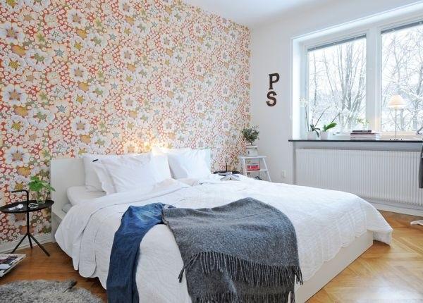 Gợi ý trang trí tường nhà với họa tiết hoa 8