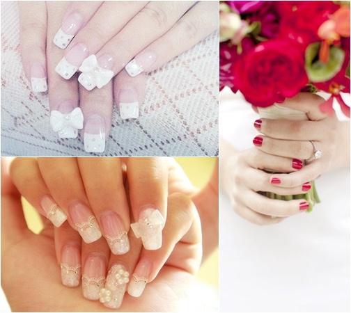 Muôn kiểu nail xinh cho cô dâu ngày cưới - 1
