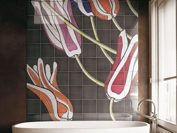 Gợi ý trang trí tường nhà với họa tiết hoa 6