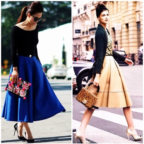 Váy xòe nào đang 'tung hoành' street style? - 1