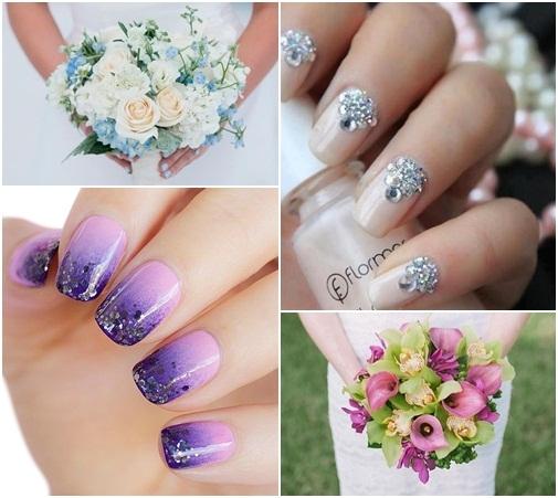 Muôn kiểu nail xinh cho cô dâu ngày cưới - 13