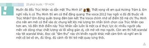 Trúc Nhân phủ nhận nói xấu Hương Tràm    Giọng hát Việt, Thu Minh, Trúc Nhân, Ca sĩ Hương Tràm, Nói xấu, Quan hệ, Facebook